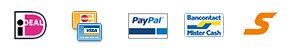 Betaal met: iDEAL, Creditcard, PayPal, Mister Cash en SOFORT Banking
